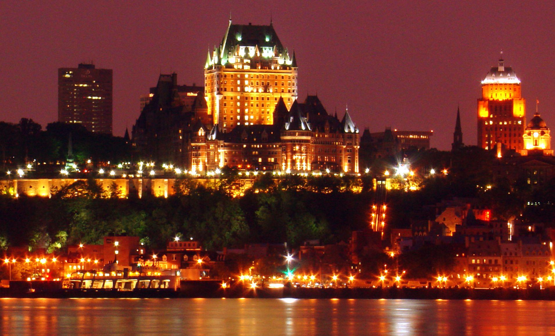 Château Frontenac a Québec City, in una delle zone più affascinanti del Canada e Nord America